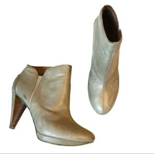 Fossil Allison Booties Heeled Grey Leather